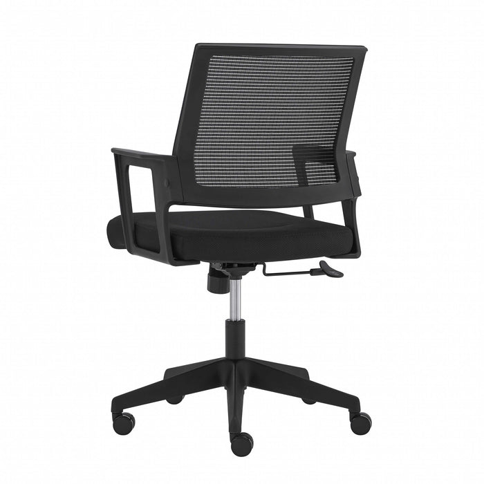 "HomeRoots Office 25.99"" X 25.2"" X 37.01"" Black Fabric/Mesh Office Chair"