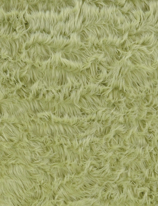 "HomeRoots 1"" x 36"" x 60"" Acrylic, Faux Leather and Latex Green Rug with Suede Leather Backing"