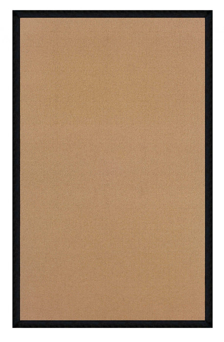 "HomeRoots 0.25"" x 22"" x 34"" Wool and Latex Brown Wool Rug"