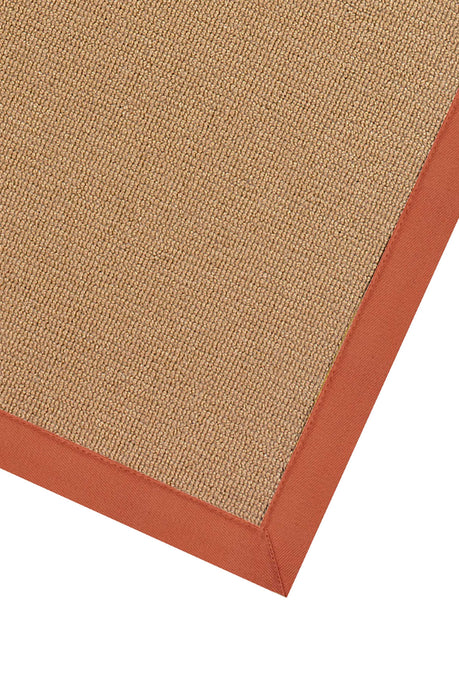 "HomeRoots 0.25"" x 22"" x 34"" Wool and Latex Brown and Orange Wool Rug"