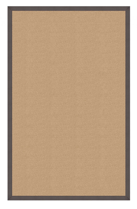 "HomeRoots 0.25"" x 105"" x 144"" Wool and Latex Beige and Gray Wool Rug"