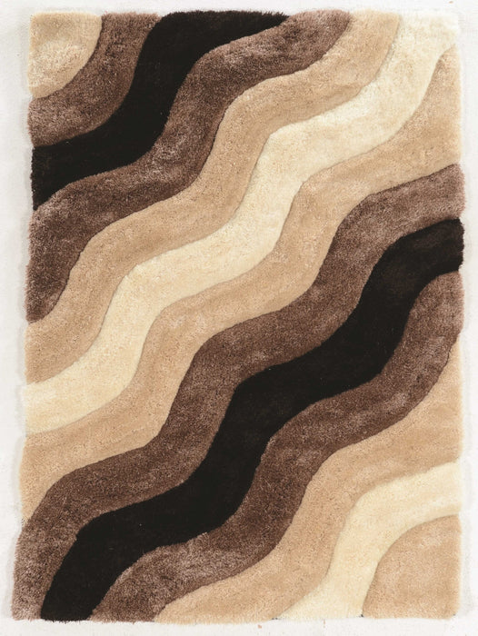 "HomeRoots 1.5"" x 22"" x 34"" Polyester, cotton and Latex Beige Polyester Rug"