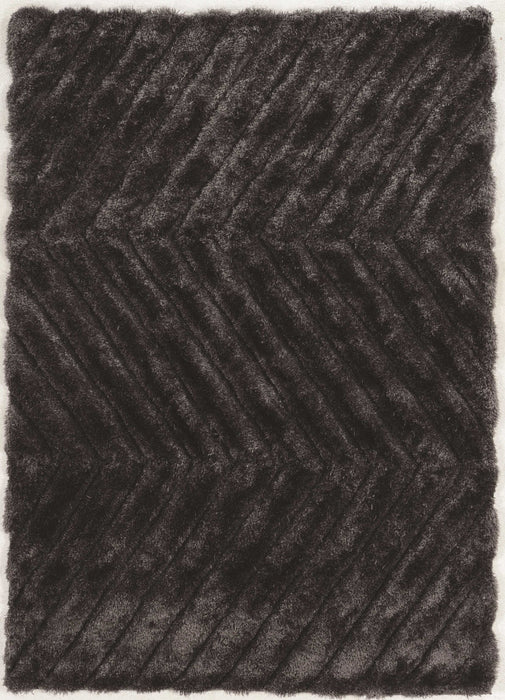 "HomeRoots 1.5"" x 22"" x 34"" Polyester and Latex Gray Polyester Rug"
