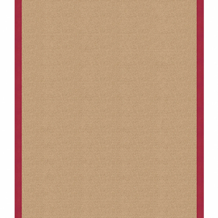 "HomeRoots 0.25"" x 22"" x 34"" Wool and Latex Beige and Red Machine Tufted Wool Rug"