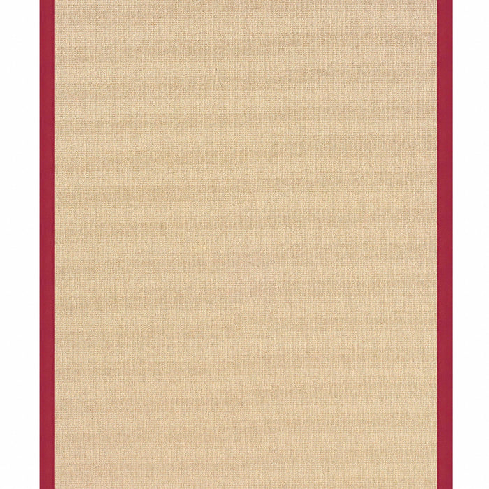 "HomeRoots 0.25"" x 22"" x 34"" Wool and Latex Brown and Red Machine Tufted Wool Rug"