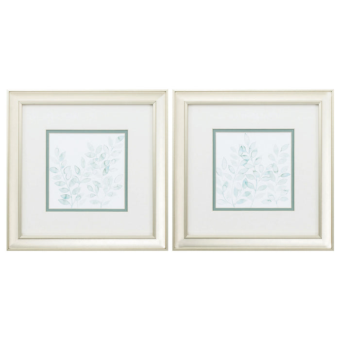 "HomeRoots 12"" X 12"" Champagne Gold Color Frame  Winding Whisper (Set of 2)"