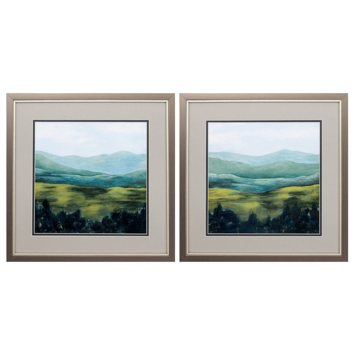 "HomeRoots 17"" X 17"" Metallic Bronze Frame Open Valley (Set of 2)"