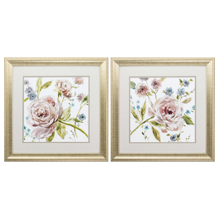 "HomeRoots 19"" X 19"" Gold Frame Summer Whisper (Set of 2)"