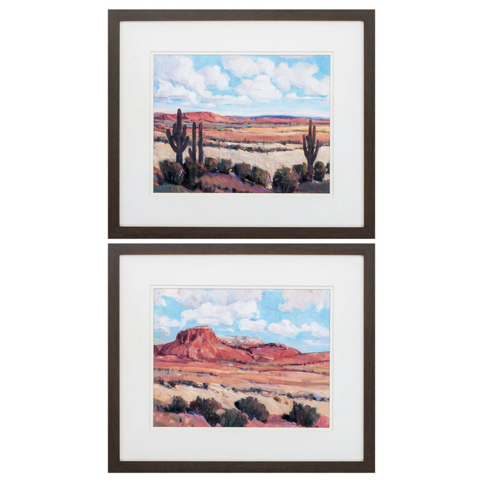 "HomeRoots 21"" X 18"" Brown Frame Desert Heat (Set of 2)"