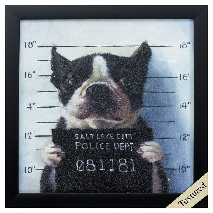 "HomeRoots 11"" X 11"" Black Frame Mug Shot"