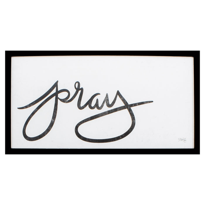 "HomeRoots 25"" X 13"" Silver Frame Pray"