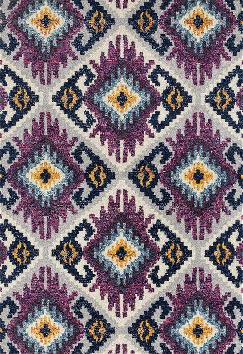 "HomeRoots 31"" x 86"" x 0.35"" Plum Olefin/Frieze Runner Rug"