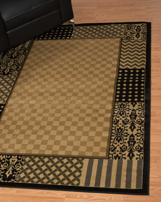 "HomeRoots 6 x 86"" x 0.4"" Multi Polypropylene Kitchen Area Rug"