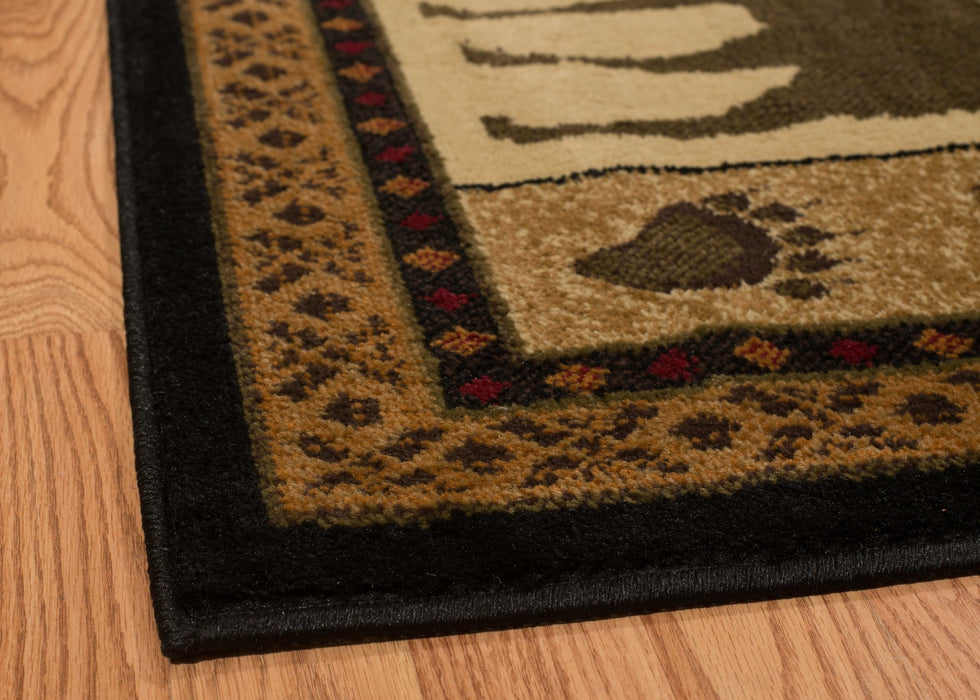 "HomeRoots 22"" x 26"" x 0.4"" Montage Polypropylene Lodge Accent Rug"
