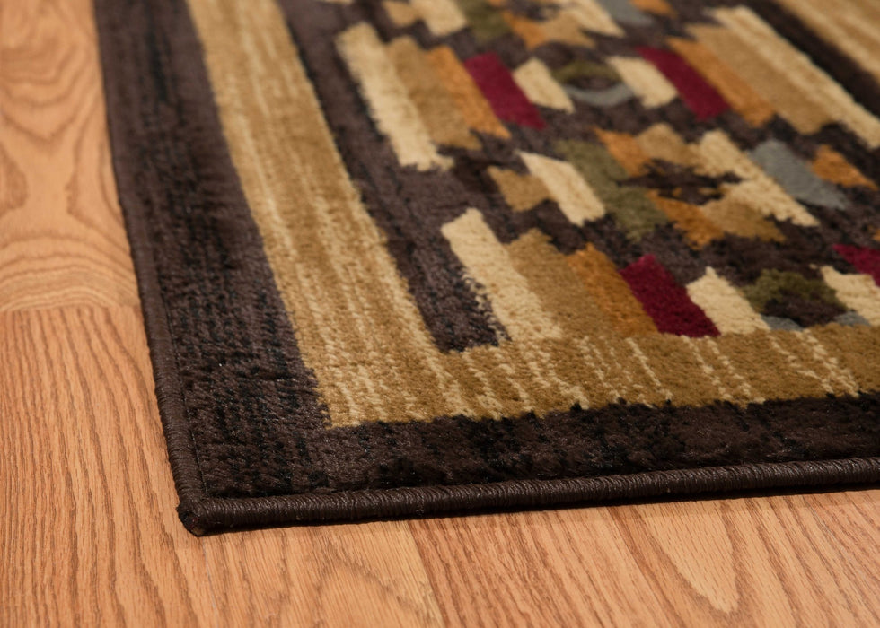 "HomeRoots 22"" x 26"" x 0.4"" Spice Polypropylene Accent Rug"