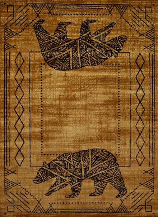 "HomeRoots 6 x 86"" x 0.4"" Gold Polypropylene Area Rug"