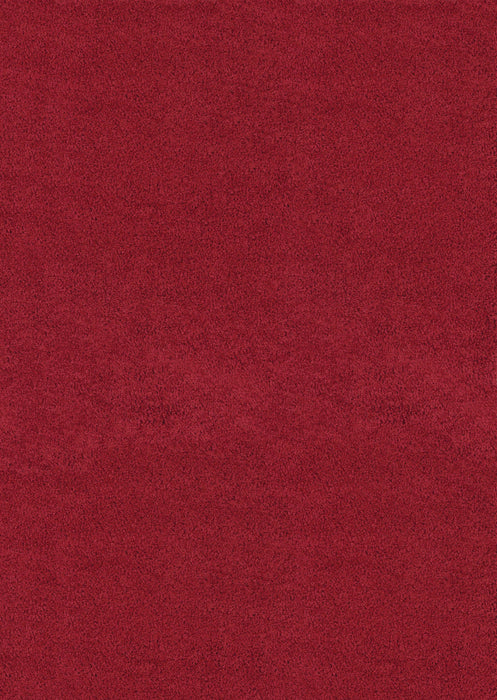 "HomeRoots 6 x 86"" x 1.2"" Crimson Olefin Area Rug"