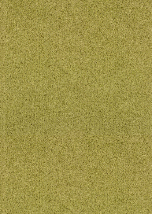 "HomeRoots 6 x 86"" x 1.2"" Lime Olefin Area Rug"
