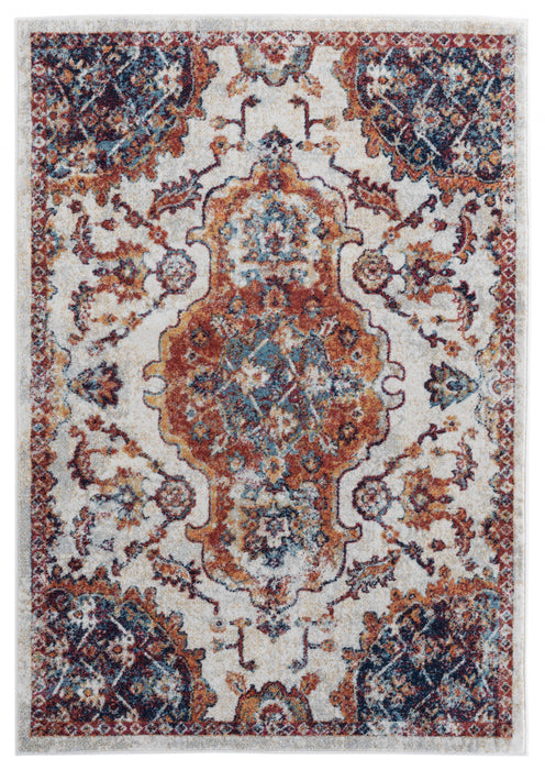 "HomeRoots 31"" x 86"" x 0.4"" Cream Olefin Runner Rug"