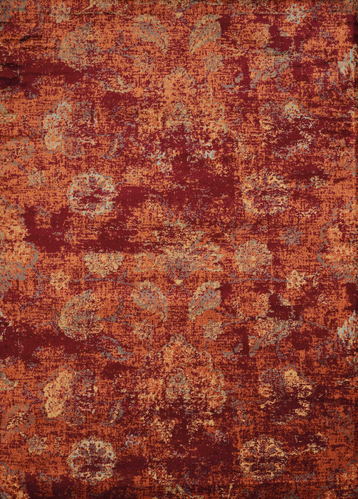 "HomeRoots 63"" x 86"" x 0.39"" Crimson Olefin Area Rug"