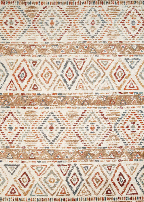 "HomeRoots 22"" x 36"" x 0.39"" Multi Olefin Accent Rug"