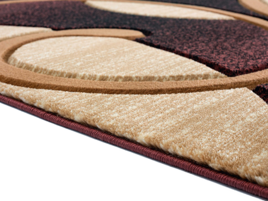 "HomeRoots 22"" x 32"" x 0.53"" Brown Olefin/Polypropylene Accent Rug"