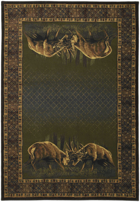 "HomeRoots 23"" x 88"" x 0.45"" Hunter Polypropylene Runner Rug"