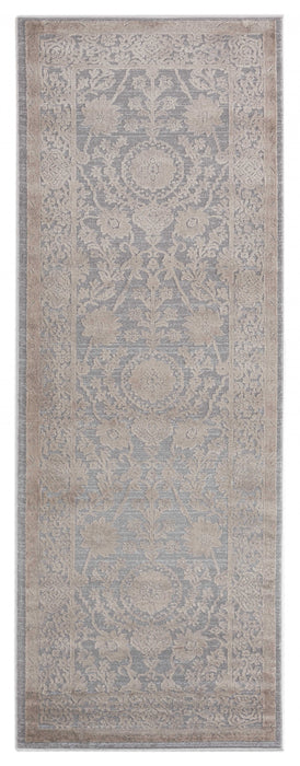 "HomeRoots 31"" x 86"" x 0.39"" Wheat Polyester/Olefin Runner Rug"