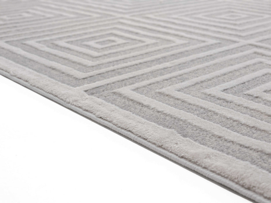 "HomeRoots 23"" x 36"" x 0.39"" Sand Polyester/Olefin Accent Rug"