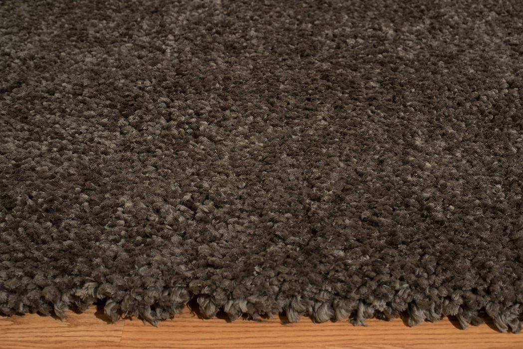 "HomeRoots 31"" x 47"" x 1.6"" Grey Polyester Accent Rug"