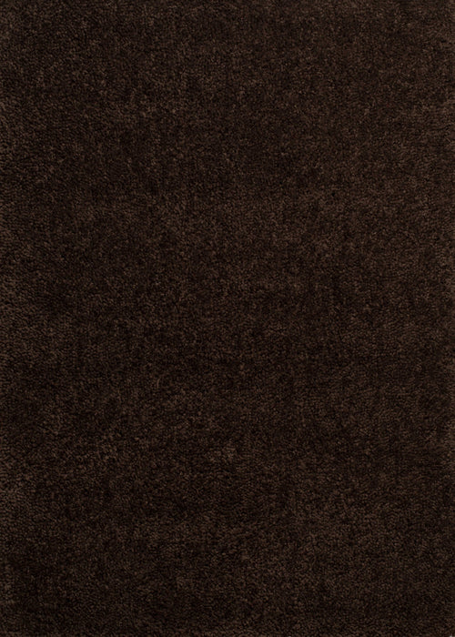 "HomeRoots 31"" x 47"" x 1.6"" Dark Chocolate Polyester Accent Rug"