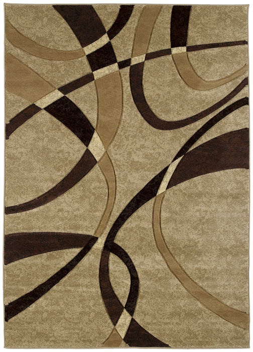 "HomeRoots 31"" x 50"" x 0.47"" Chocolate Polypropylene Accent Rug"