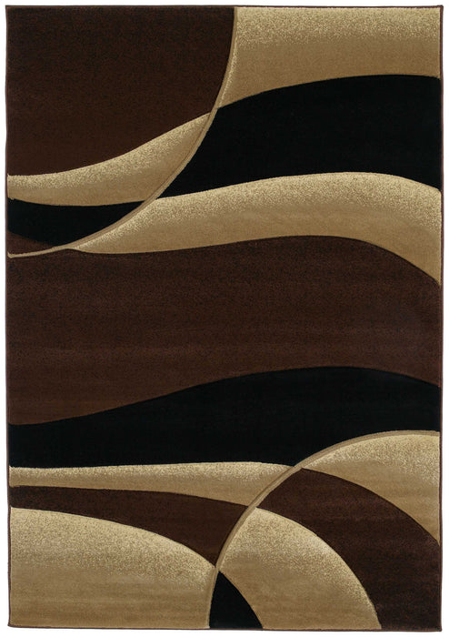 "HomeRoots 31"" x 50"" x 0.47"" Toffee Polypropylene Accent Rug"