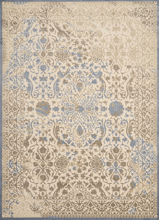 "HomeRoots 22"" x 36"" x 0.31"" Taupe Polyester /Olefin Accent Rug"