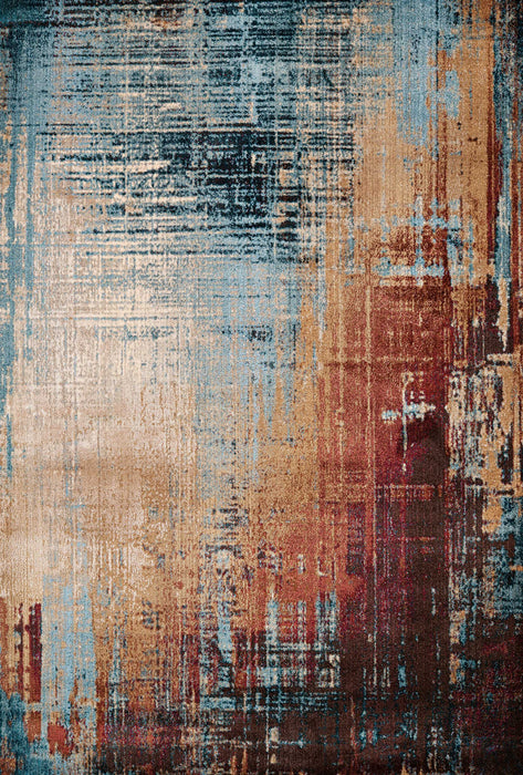 "HomeRoots 31"" x 50"" x 0.35"" Multi Olefin/Polyester Mat Rug"