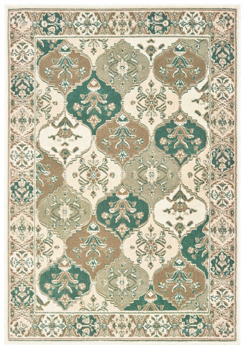 "HomeRoots 63"" x 90"" x 0.31"" Natural Polypropylene Area Rug"