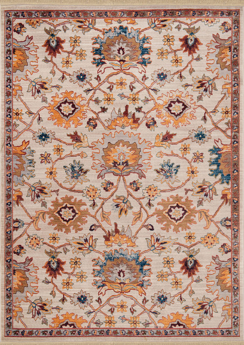 "HomeRoots 31"" x 90"" x 0.24"" Natural Polyester Runner Rug"