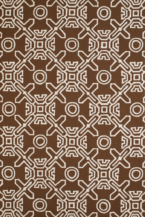 "HomeRoots 23"" x 36"" x 0.3"" Chocolate Polypropylene Accent Rug"