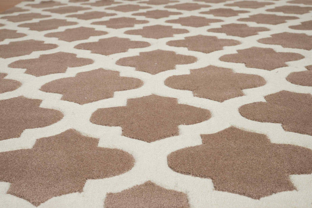 "HomeRoots 23"" x 86"" x 0.46"" Taupe Polyester Runner Rug"