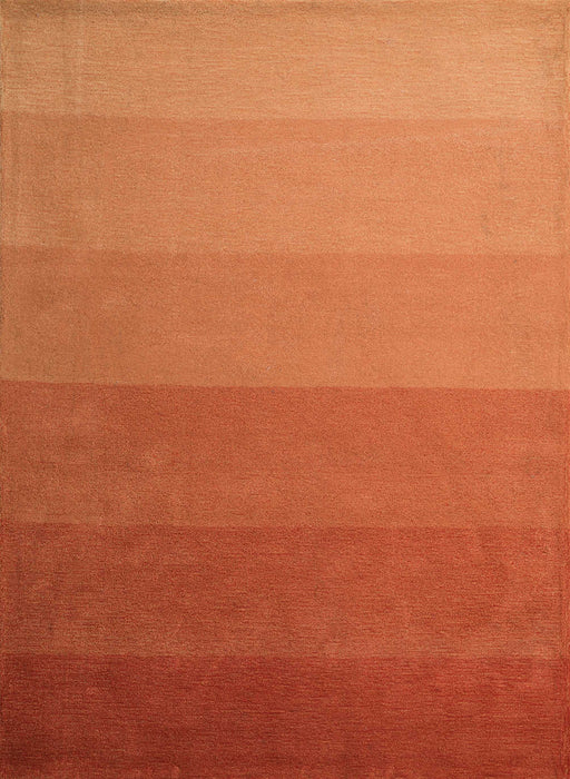 "HomeRoots 22"" x 26"" x 0.47"" Orange Polyester Accent Rug"