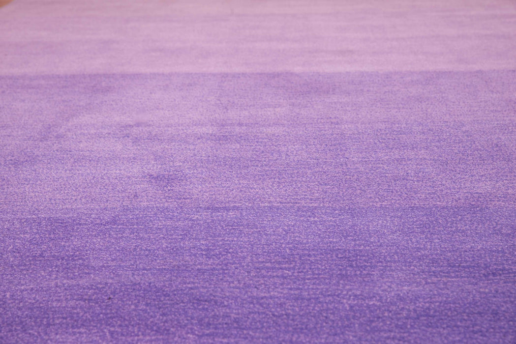 "HomeRoots 22"" x 26"" x 0.47"" Lilac Polyester Accent Rug"