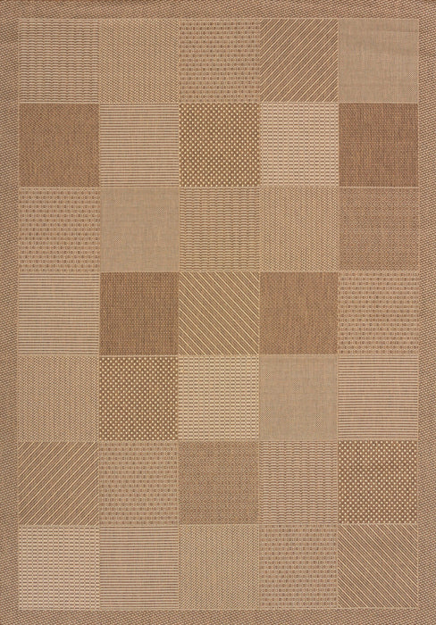 "HomeRoots 31"" x 50"" x 0.2"" Brown Polypropylene/Olefin Accent Rug"