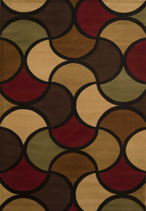 "HomeRoots 22"" x 36"" x 0.43"" Multi Polypropylene Accent Rug"