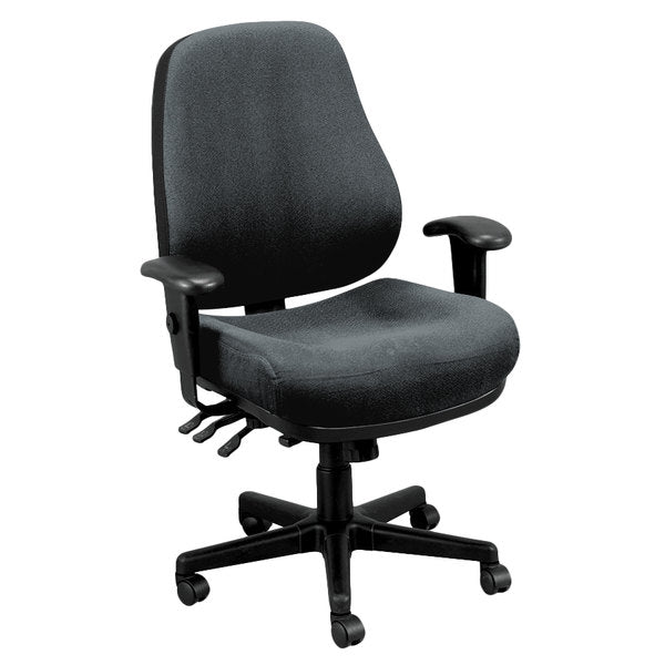 "HomeRoots Office 26.8"" x 21"" x 38.5"" 580 Charcoal Tilt Tension Control Fabric Chair"
