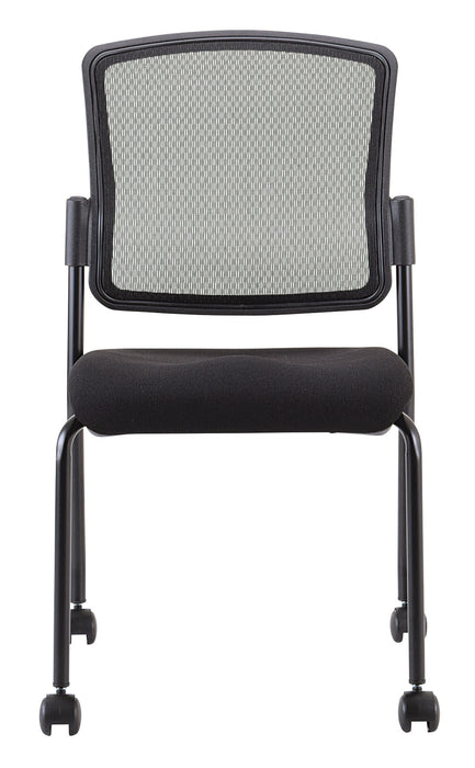 "HomeRoots Office 19"" x 25"" x 35.5"" Black Mesh Fabric Guest Chair"