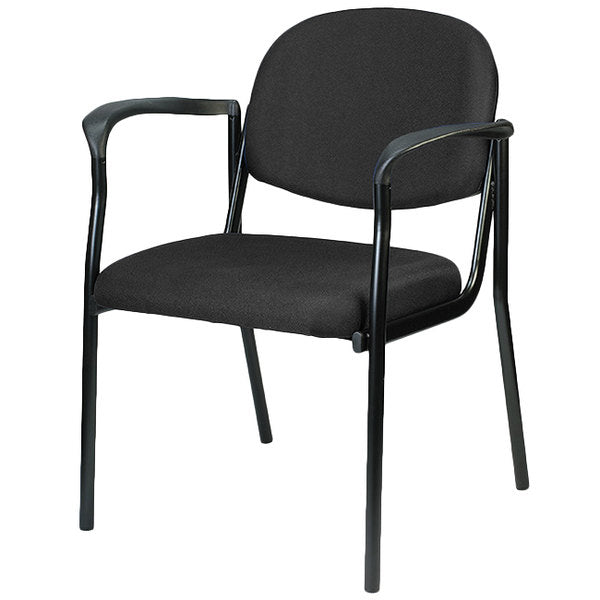 "HomeRoots Office 26.8"" x 19"" x 32"" Black Fabric Guest Chair"