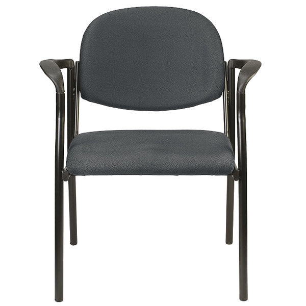 "HomeRoots Office 26.8"" x 19"" x 32"" Charcoal Fabric Guest Chair"