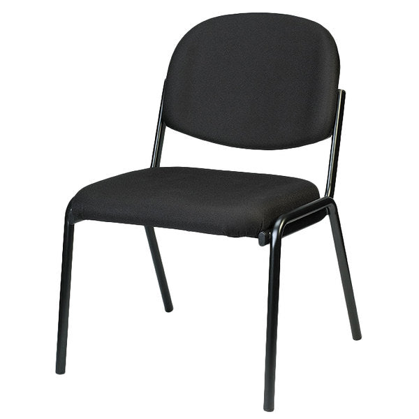 "HomeRoots Office 19.3"" x 18.5"" x 31"" Black Fabric Guest Chair"
