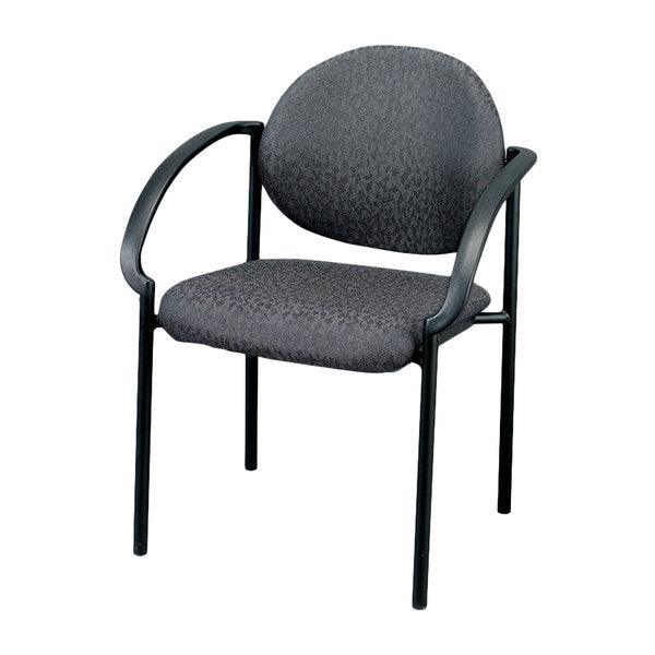 "HomeRoots Office 24"" x 19.7"" x 32.3"" Charcoal Fabric Guest Chair"