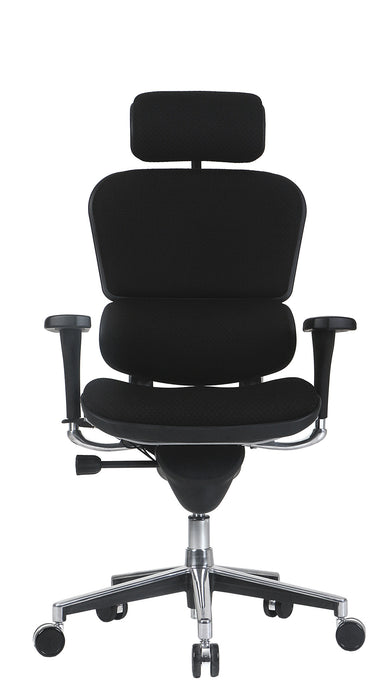 "HomeRoots Office 26.5"" x 29"" x 46"" Black Fabric Chair"